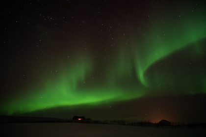 Northern Lights above the stable