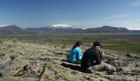 Rast mit Blick zum Eiríksjökull