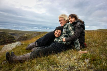 Arinbjörn, Claudia und Pálina