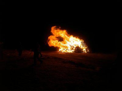 Neujahrfeuer in Hvammstangi