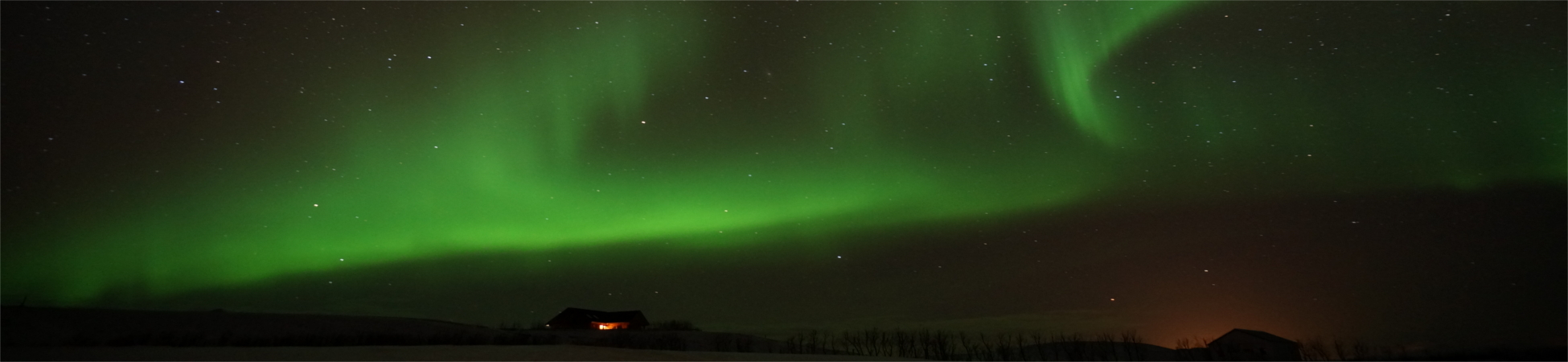 Nordlicht über Brekkulækur
