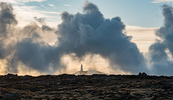 Leuchturm Reykjanes Halbinsel